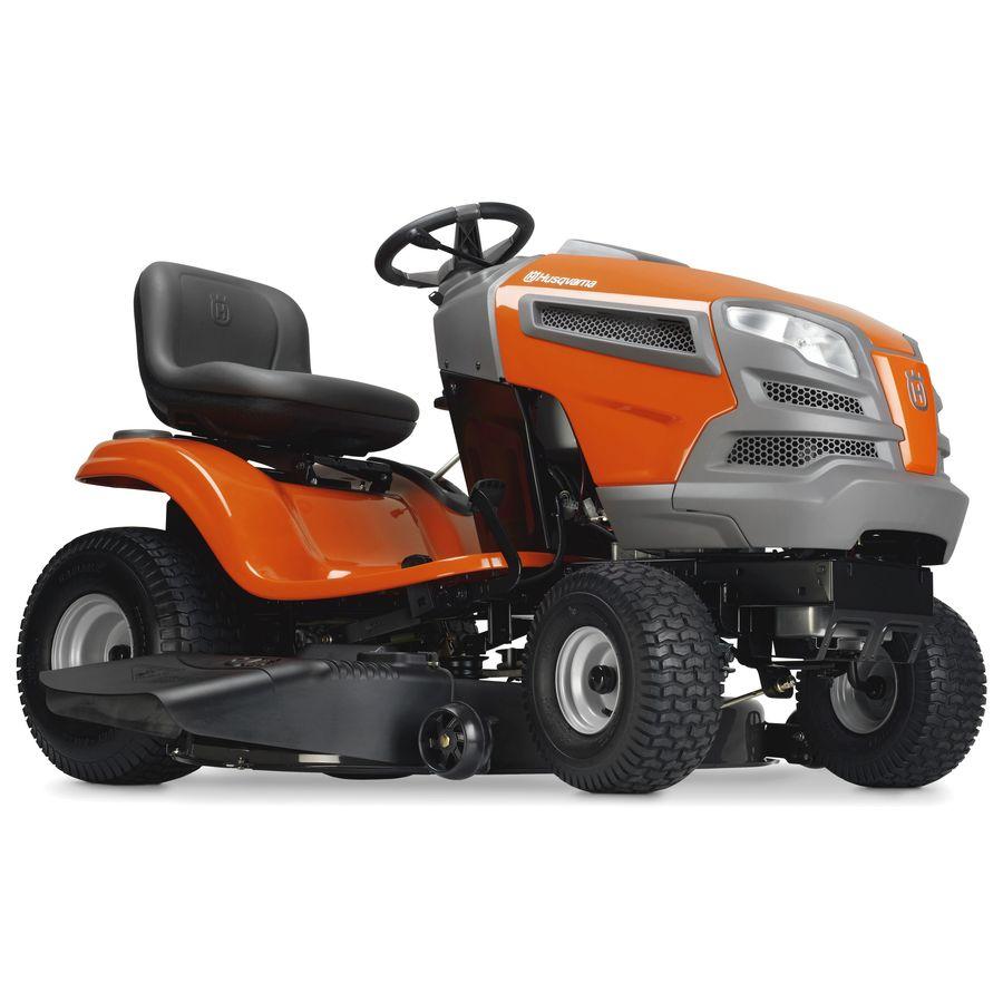 Husqvarna YTH18K46 18.5-HP V-Twin Hydrostatic 46-in Riding Lawn Mower with Kawasaki Engine