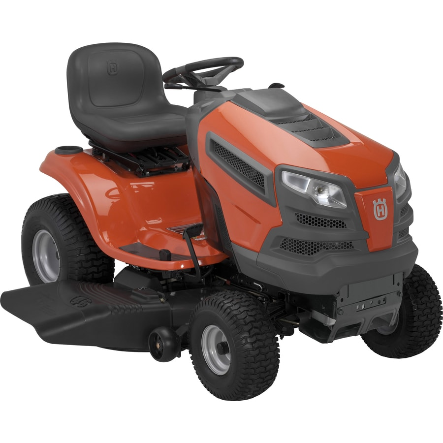 Husqvarna V-Twin Hydrostatic 46-in Riding Lawn Mower with Briggs & Stratton Engine and Mulching Capability