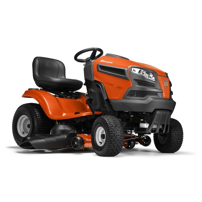 husqvarna yth24v48-carb 24-hp v-twin hydrostatic 48-in riding lawn mower  with mulching capability (kit sold separately) carb in the gas riding lawn  mowers department at lowes.com  lowe's