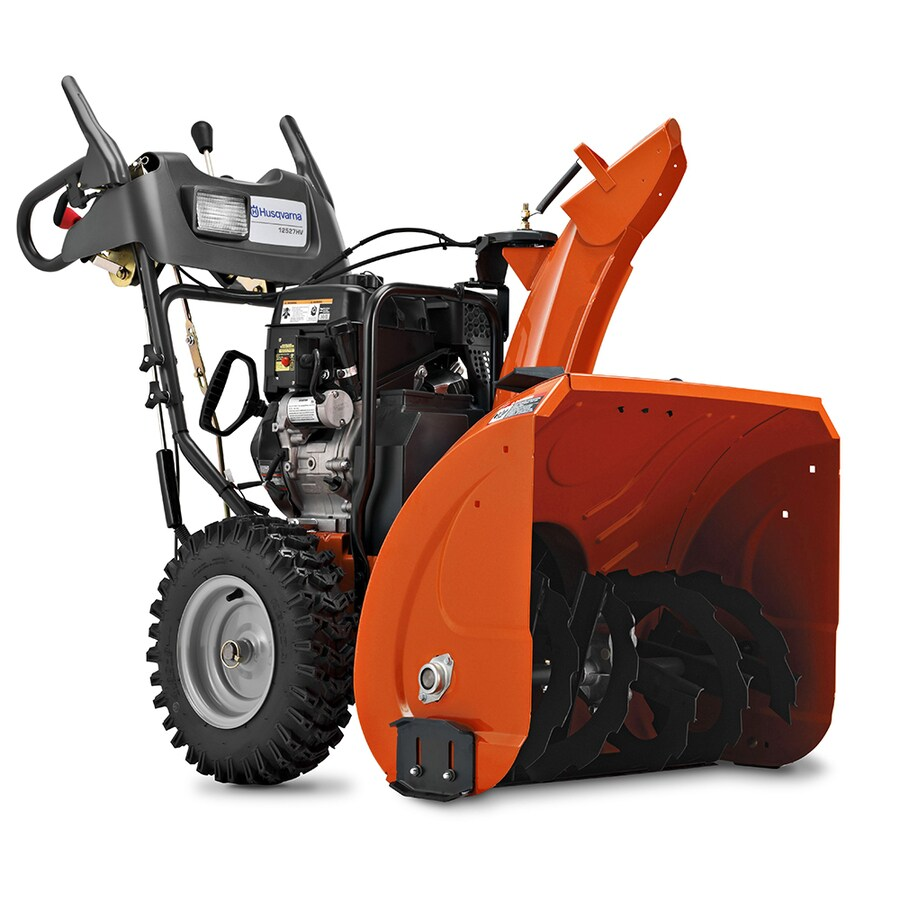 Husqvarna 291-cc 27-in Two-Stage Electric Start Gas Snow Blower and Headlight