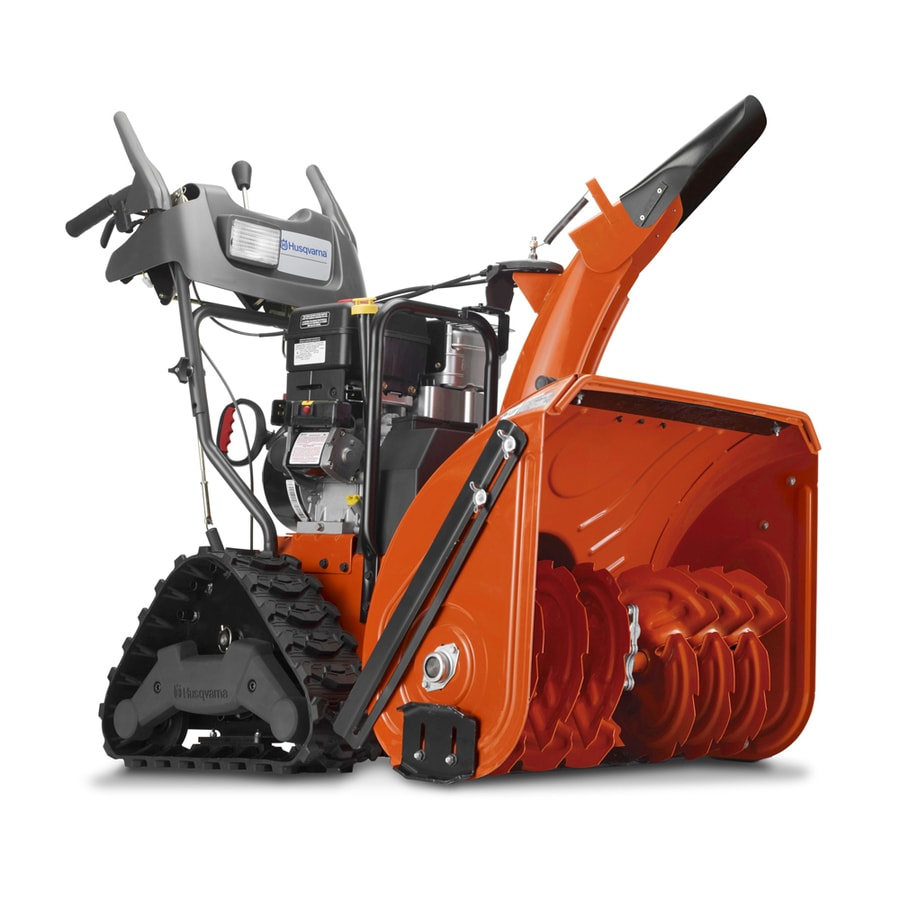 Husqvarna 414-cc 27-in Two-Stage Electric Start Gas Snow Blower with Heated Handles and Headlight