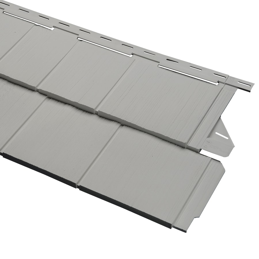 14-in x 67.5-in Pewter Vinyl Siding Panel