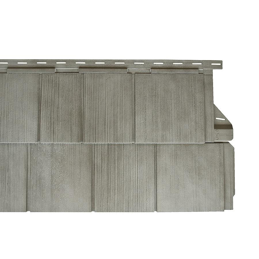 14-in x 67.5-in Gray Shade Vinyl Siding Panel