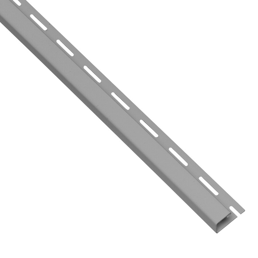 Georgia-Pacific 0.875-in x 150-in Pewter J-Channel Vinyl Siding Trim