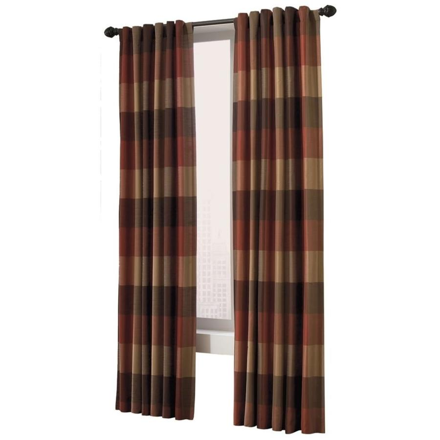 allen + roth Emilia 84-in Rust Polyester Back Tab Light Filtering Standard Lined Single Curtain Panel