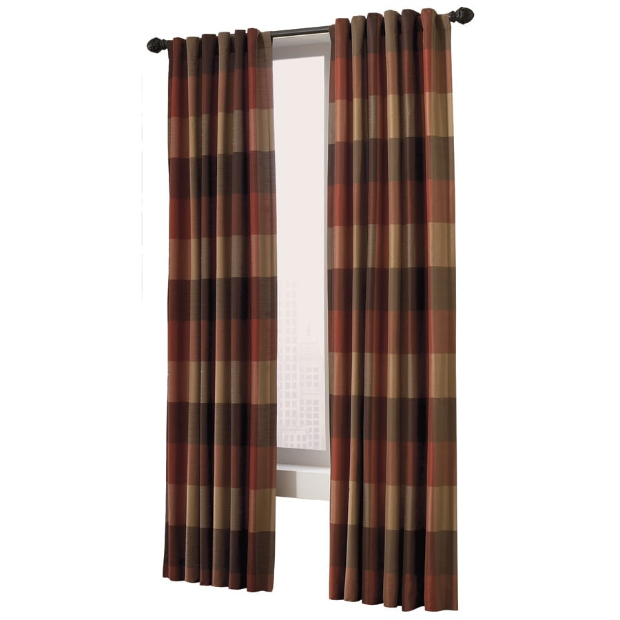 allen + roth Emilia 95-in Rust Polyester Back Tab Light Filtering Standard Lined Single Curtain Panel
