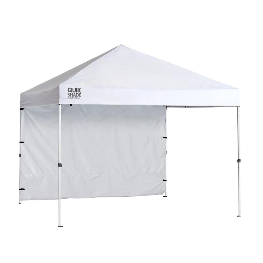 Shop Quik Shade 10 75 Ft W X 10 75 Ft L Square White Steel Pop Up Canopy At Lowes Com