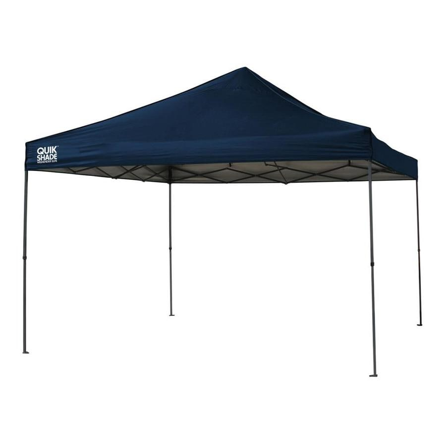 Quik Shade 12.1-ft W x 12.1-ft L Square Navy Blue Steel Pop-Up Canopy