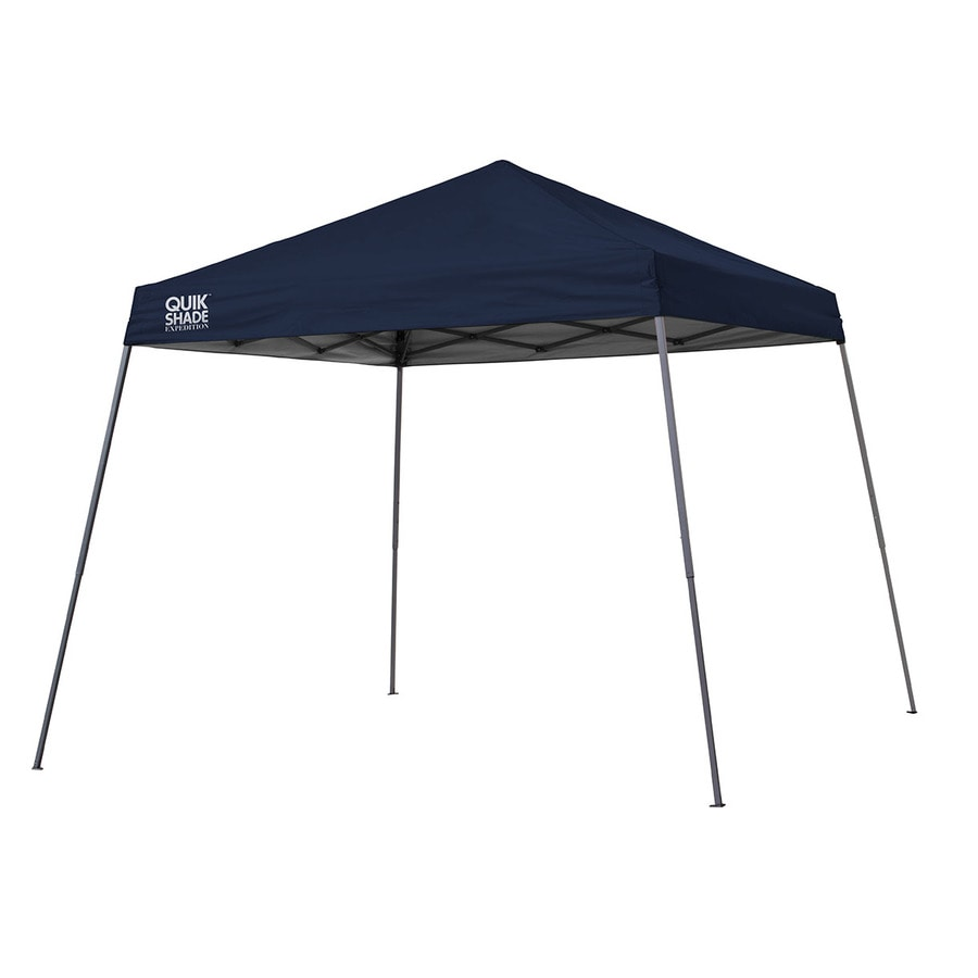 Quik Shade 10-ft W x 10-ft L Square Navy Blue Steel Pop-Up Canopy