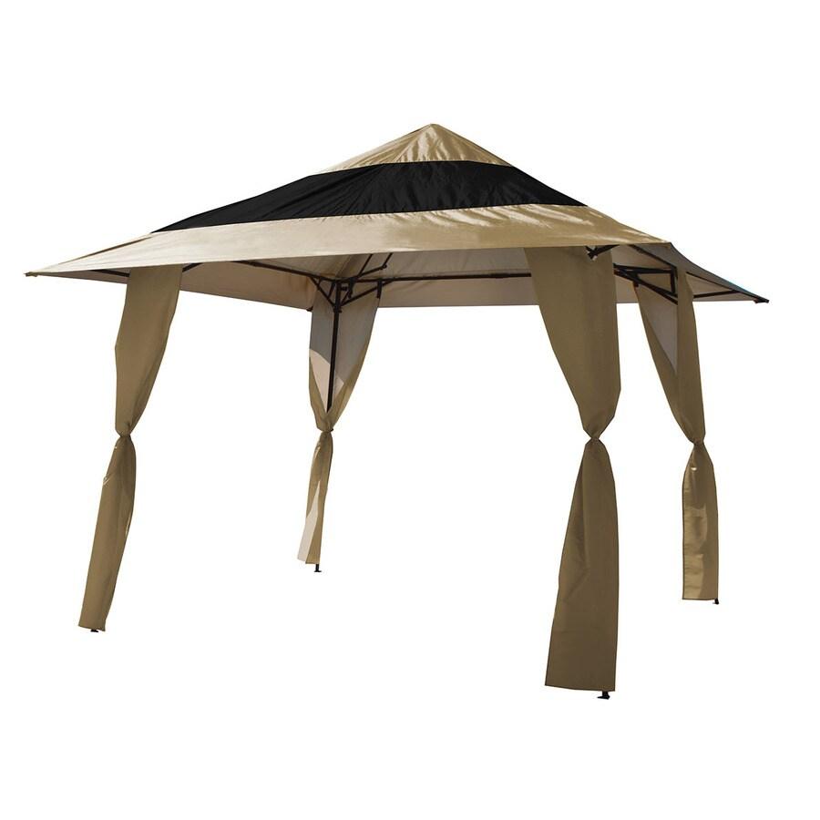 EZ-Up 12-ft W x 12-ft L Square Khaki Steel Pop-Up Canopy