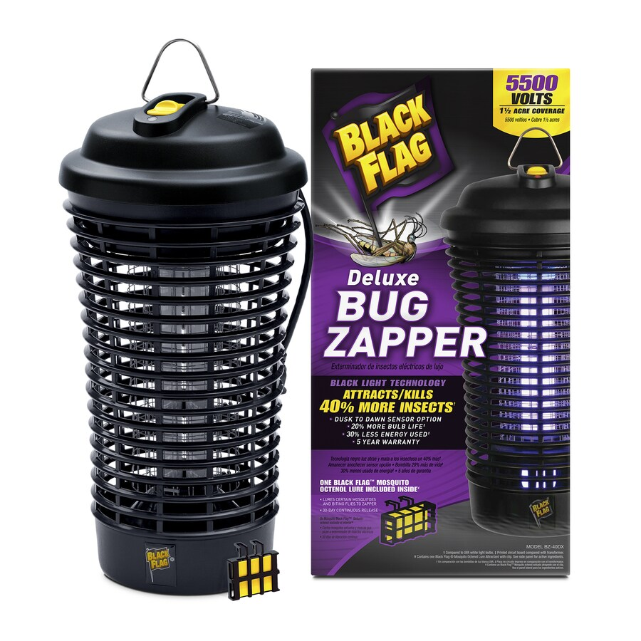 BLACK FLAG Portable Dusk-to-Dawn Electric Bug Zapper with Lure