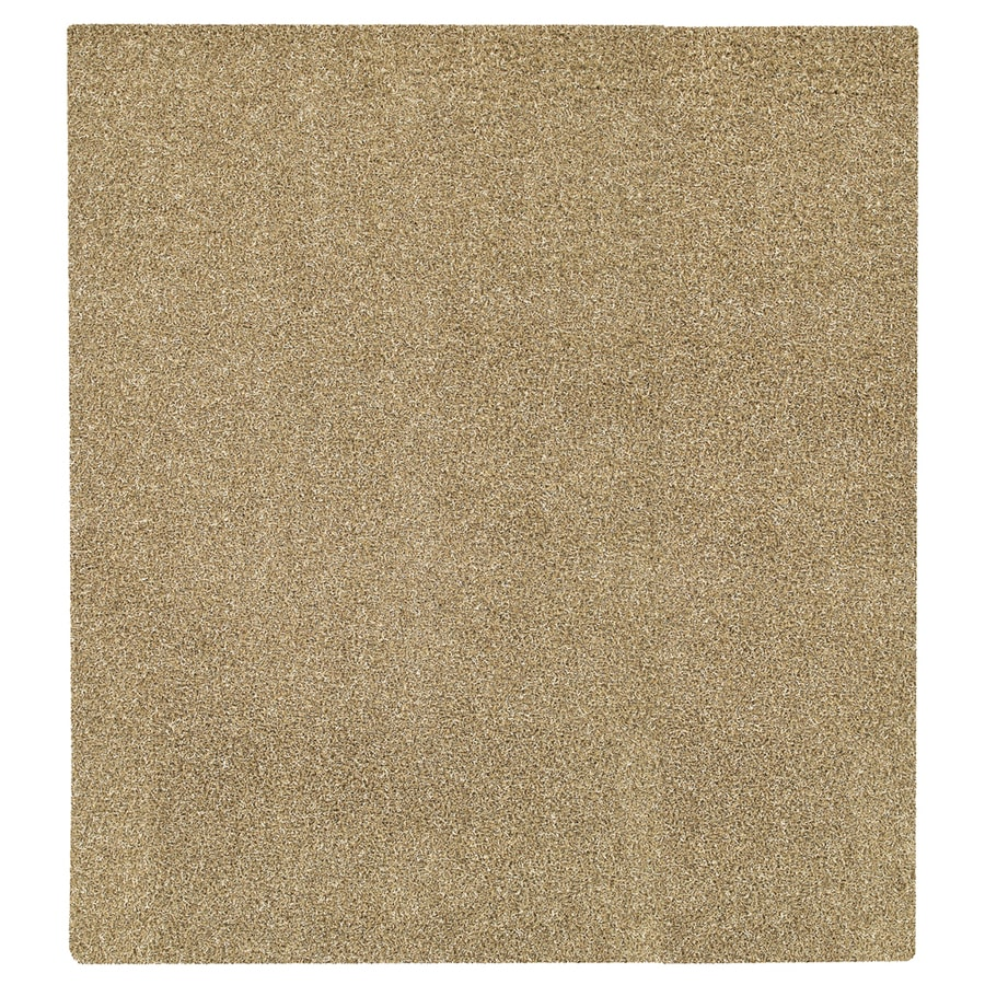Mohawk Home Perry Shag Beige Square Cream Transitional Tufted Area Rug (Common: 8-ft x 8-ft; Actual: 96-in x 96-in)