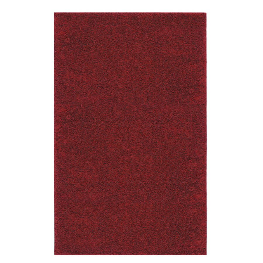 Mohawk Home Piper Shag Red Rectangular Indoor Tufted Area Rug (Common: 5 x 8; Actual: 60-in W x 96-in L)