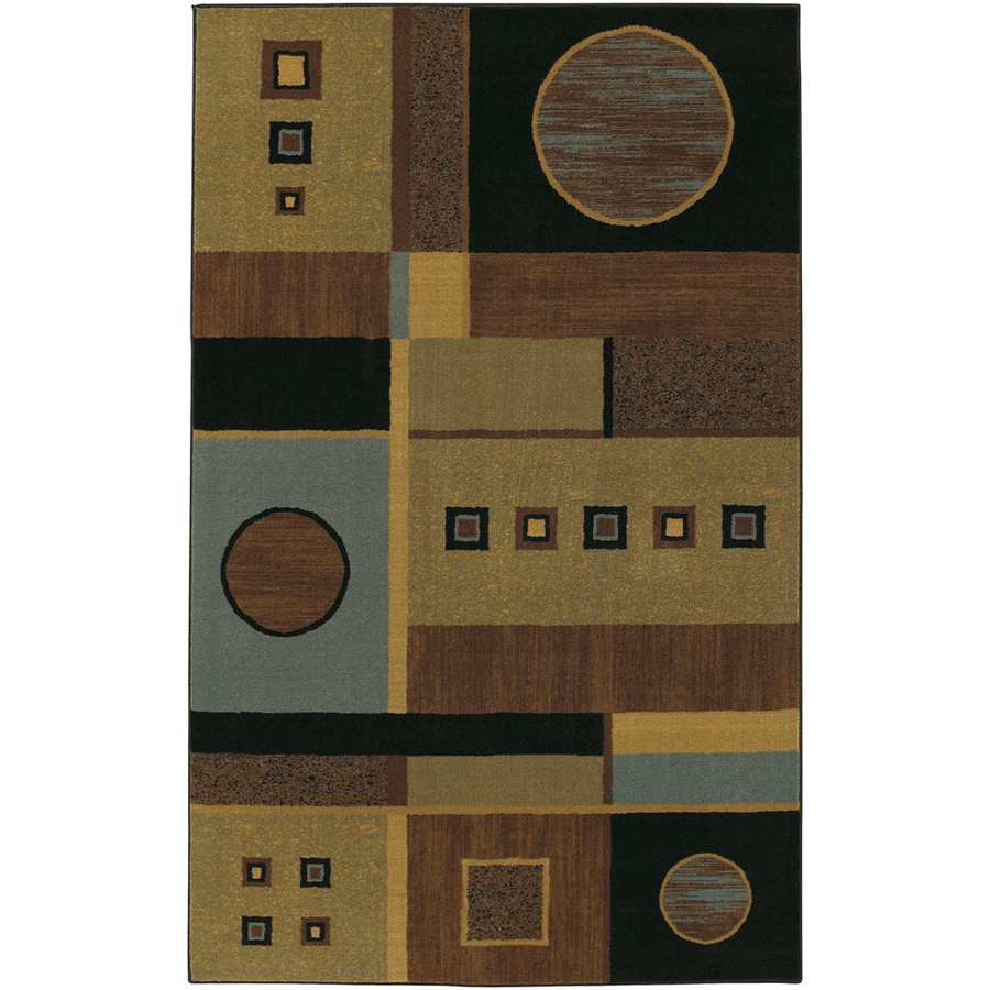 Mohawk Home Montgomery Geometric 5-ft x 8-ft Rectangular Tan Geometric Area Rug