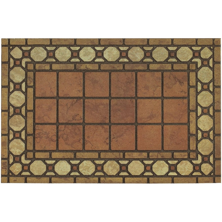 allen + roth 23-in x 35-in Ravenna Tiles Door Mat