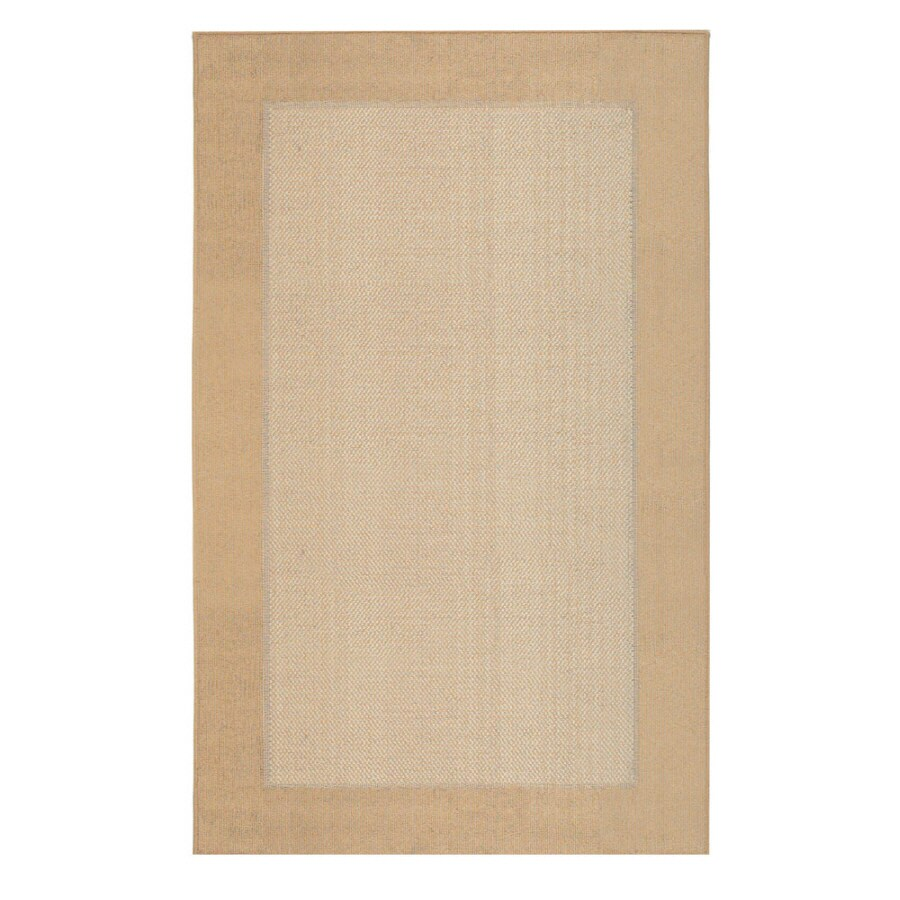 Mohawk Home Field Gold Rectangular Indoor Tufted Throw Rug (Common: 3 x 5; Actual: 45-in W x 60-in L x 0.5-ft Dia)