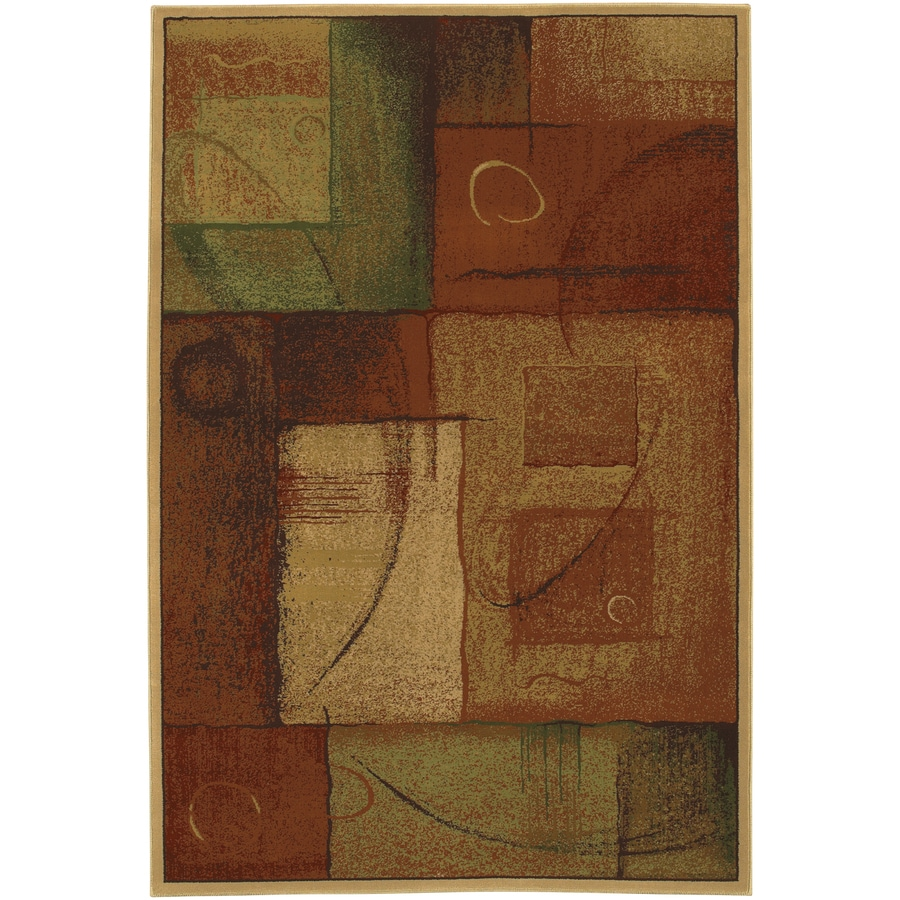 Mohawk Home DecoratorS Choice Freestyle Rectangular Red Transitional Woven Area Rug (Common: 8-ft x 11-ft; Actual: 8-ft x 11-ft)
