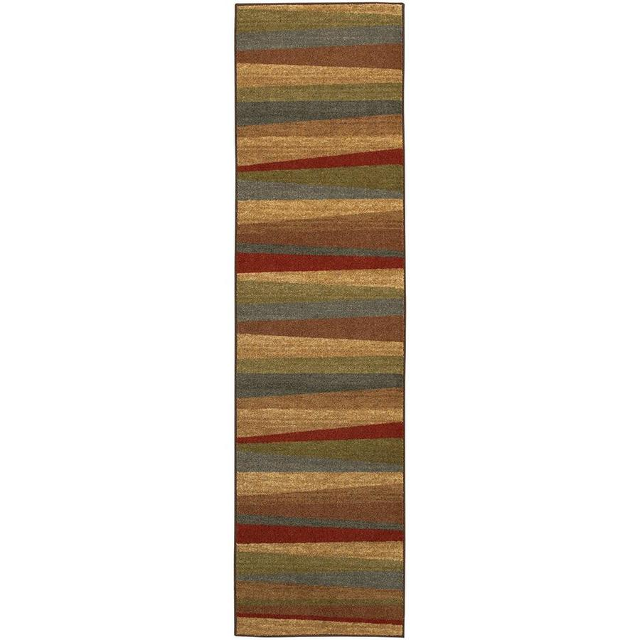 Mohawk Home Hourglass Wave Multi Brown Rectangular Indoor Tufted Runner (Common: 2 x 8; Actual: 24-in W x 96-in L x 0.5-ft Dia)