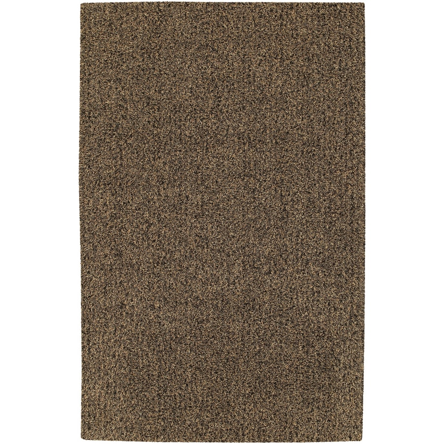 Mohawk Home Aurora Shag 5-ft x 8-ft Rectangular Brown Transitional Area Rug