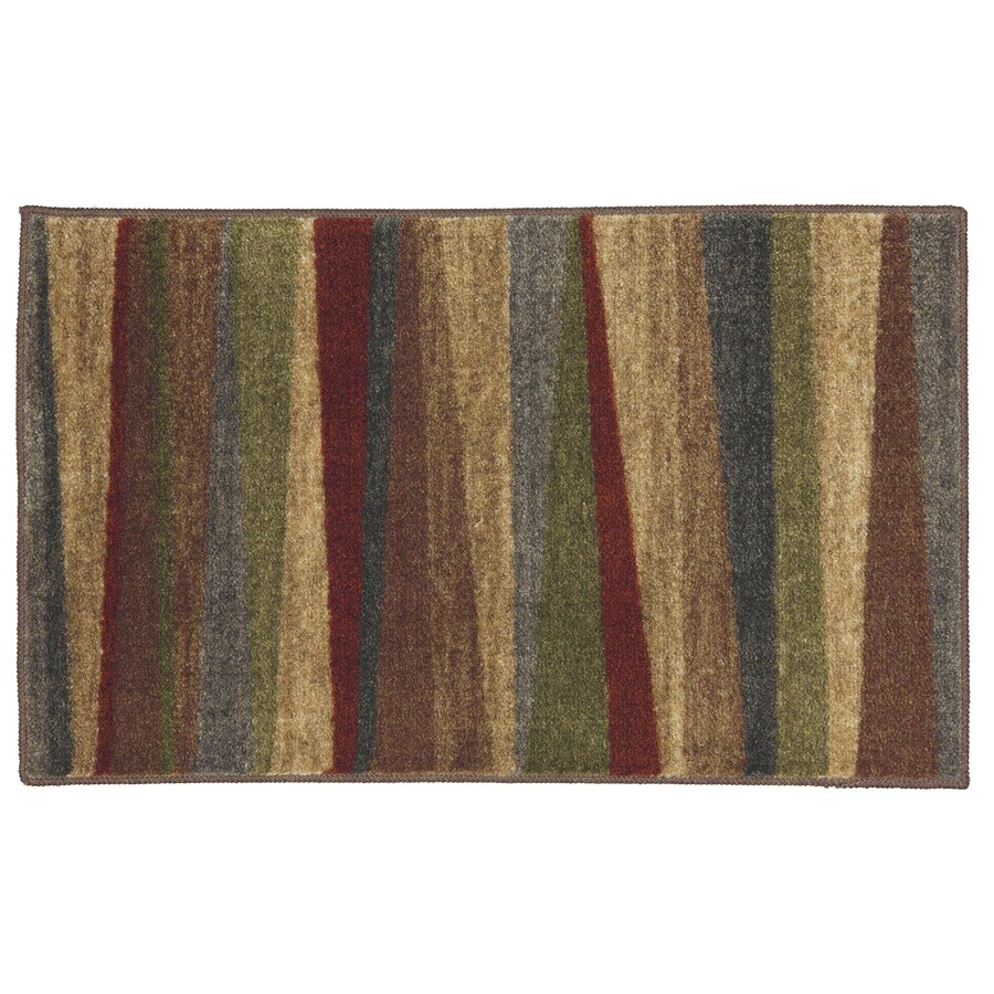 Mohawk Home Brown Rectangular Indoor Tufted Throw Rug (Common: 1-1/2 x 2-1/2; Actual: 20-in W x 34-in L x 0.5-ft Dia)
