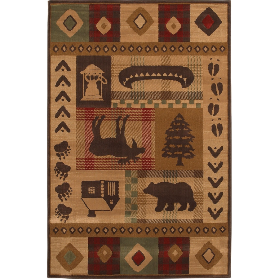 Mohawk Home Westland Dark Brown Rectangular Indoor Woven Area Rug (Common: 5 x 8; Actual: 63-in W x 94-in L)