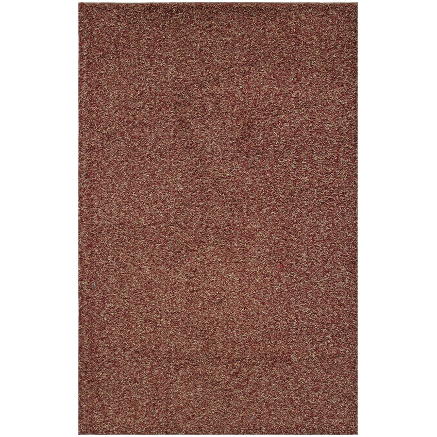 Mohawk Home Traverse Shag 5-ft x 8-ft Rectangular Red Transitional Area Rug