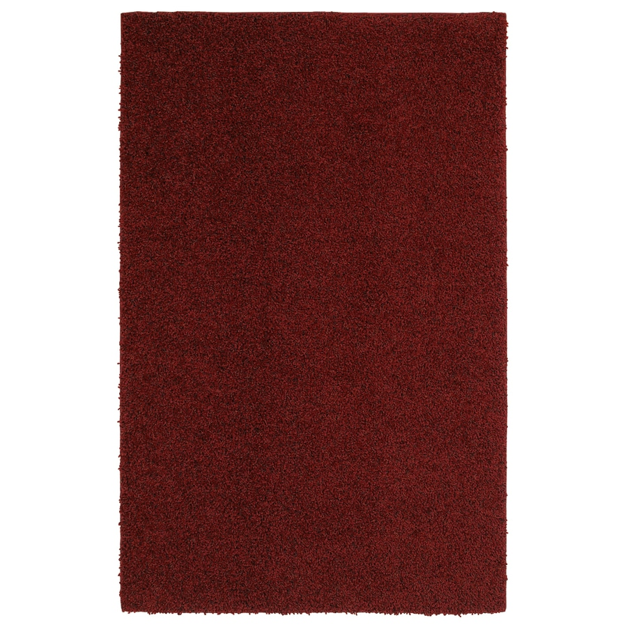 Mohawk Home Kodiak Rusty Red Shag Red Rectangular Indoor Tufted Area Rug (Common: 5 x 8; Actual: 60-in W x 96-in L x 0.5-ft Dia)