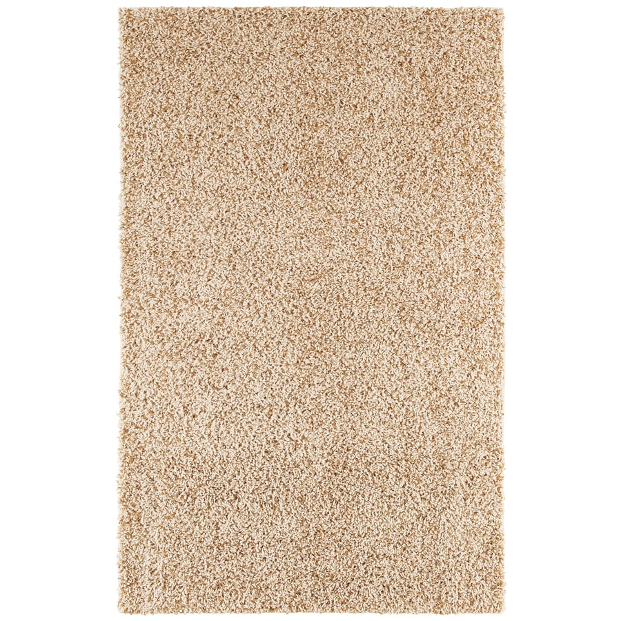 Mohawk Home Kodiak Buckskin Shag Buckskin Rectangular Indoor Tufted Runner (Common: 2 x 8; Actual: 24-in W x 96-in L)