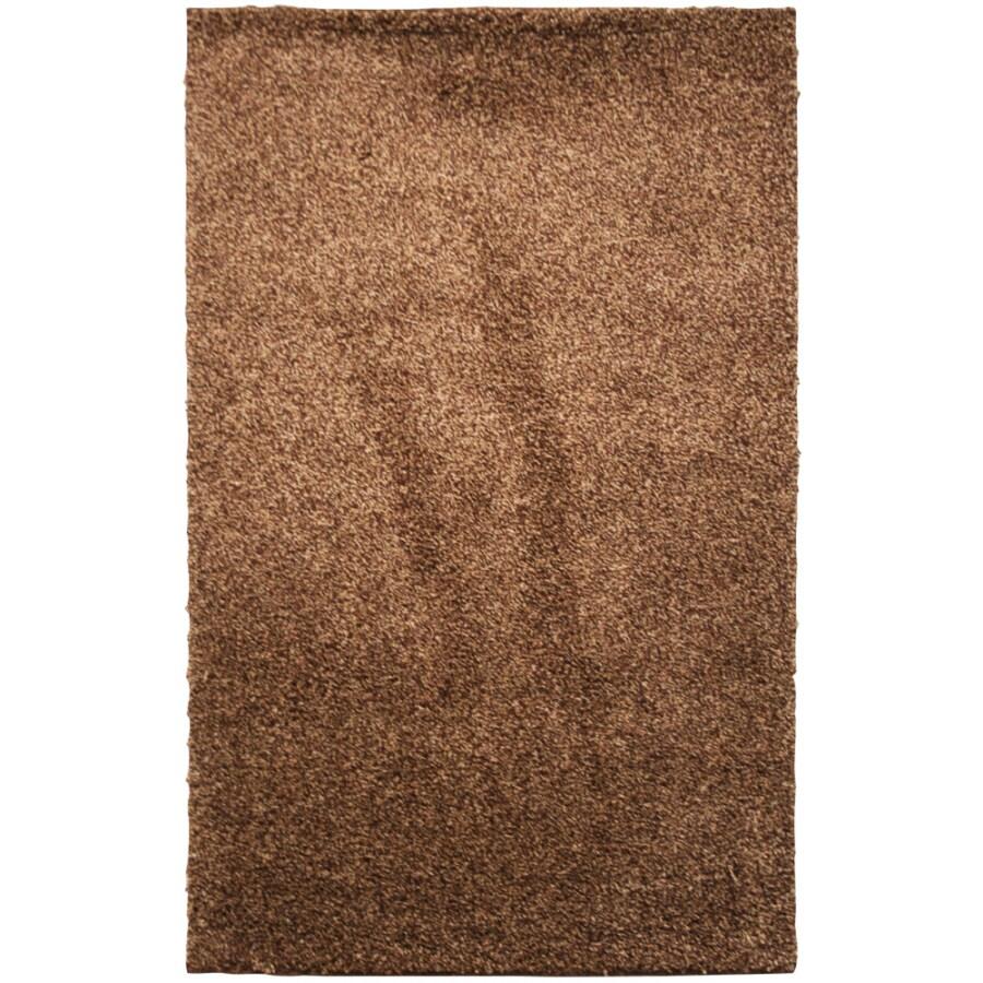Mohawk Home Kodiak Hazel Gold Shag Brown Rectangular Indoor Tufted Throw Rug (Common: 2 x 3; Actual: 24-in W x 40-in L x 0.5-ft Dia)