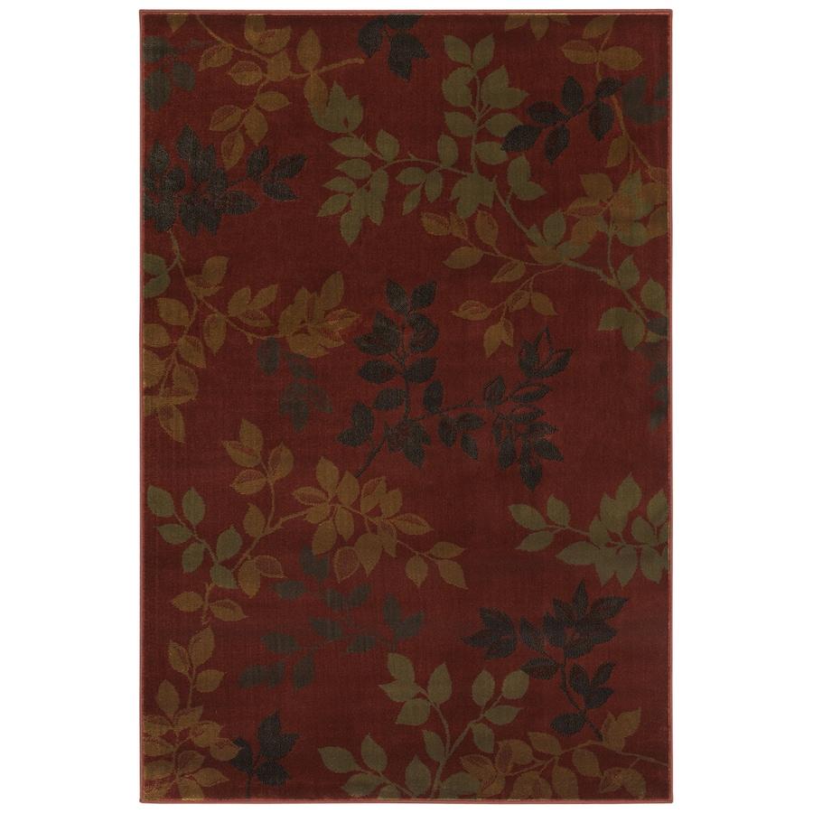Mohawk Home Alcott Rust Red Rectangular Indoor Woven Area Rug (Common: 8 x 11; Actual: 96-in W x 132-in L x 0.5-ft Dia)