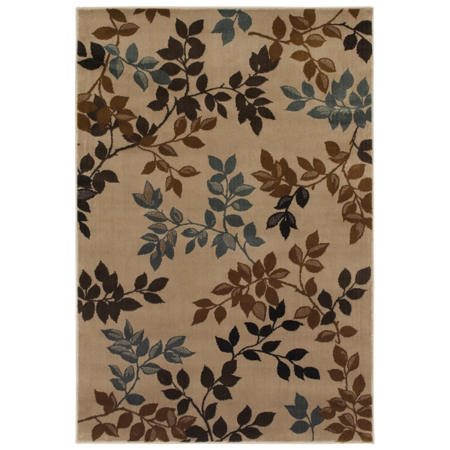 Mohawk Home Alcott Oyster Rectangular Indoor Woven Area Rug (Common: 5 x 8; Actual: 63-in W x 94-in L)