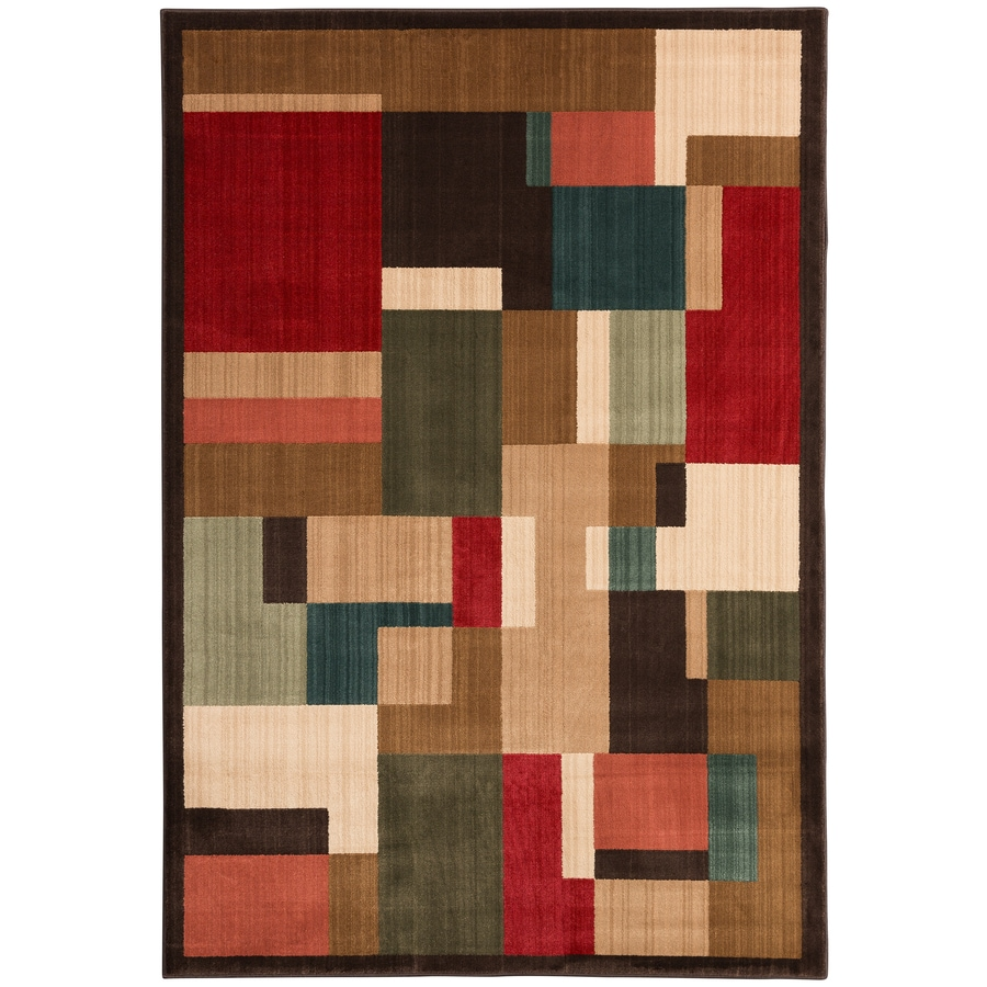 Mohawk Home Patton Brown Rectangular Indoor Woven Area Rug (Common: 5 x 8; Actual: 63-in W x 94-in L)