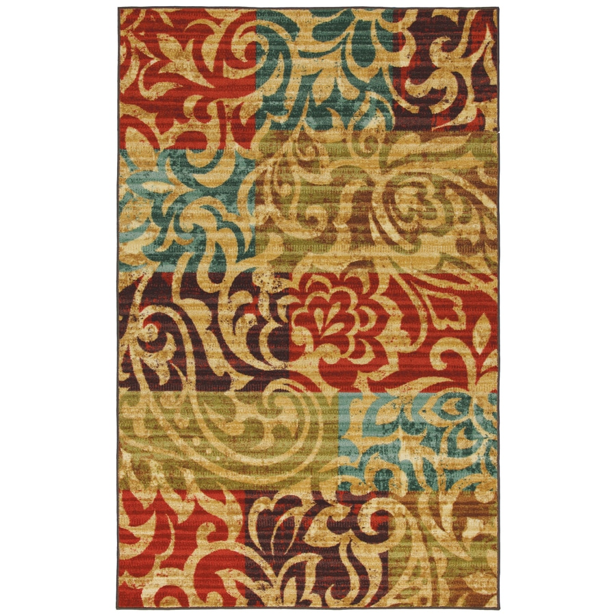 Mohawk Home Select Canvas Bangkok Rectangular Red Transitional Woven Area Rug (Common: 8-ft x 10-ft; Actual: 96-in x 120-in)