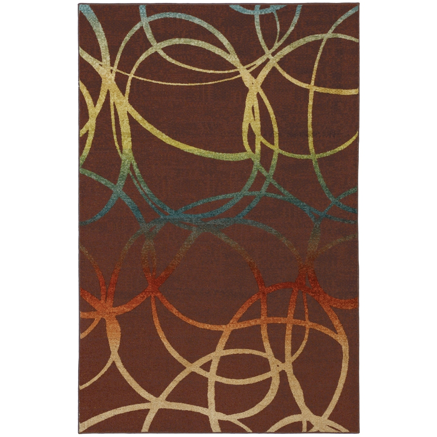 Mohawk Home Select Strata Acrobatic Rectangular Brown Transitional Woven Area Rug (Common: 8-ft x 10-ft; Actual: 8-ft x 10-ft)