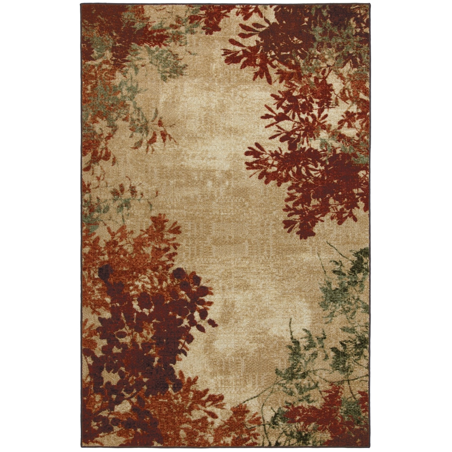 Mohawk Home Select Strata Valence Rectangular Orange Transitional Woven Area Rug (Common: 8-ft x 10-ft; Actual: 8-ft x 10-ft)