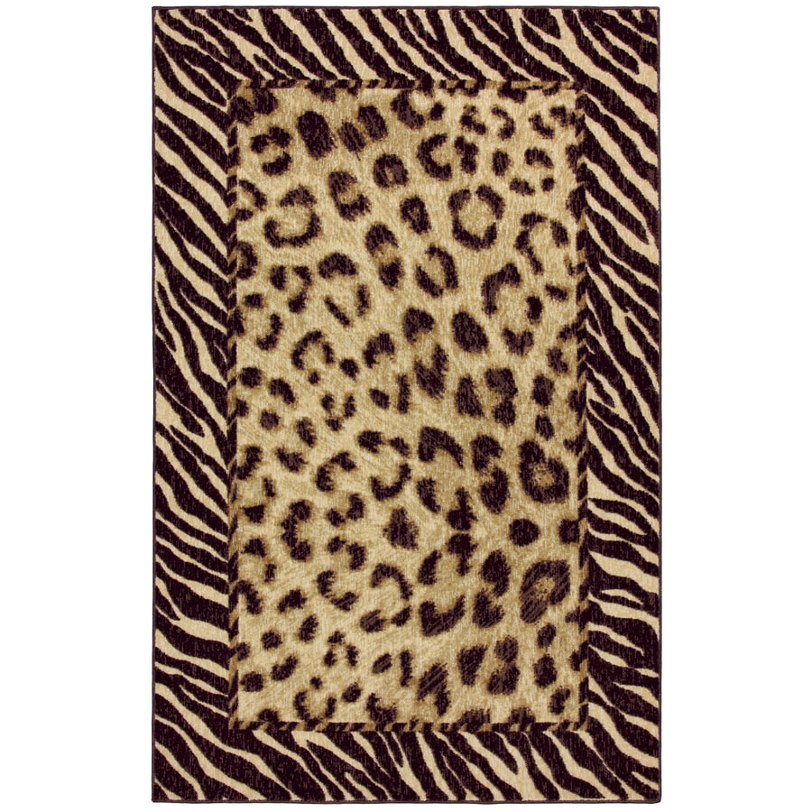 Mohawk Home Select Woodgrain Tigress Rectangular Brown Transitional Woven Area Rug (Common: 8-ft x 10-ft; Actual: 96-in x 120-in)