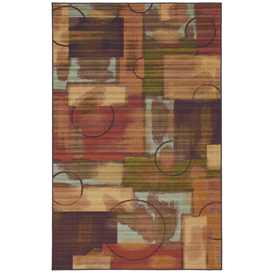 Mohawk Home Select Canvas Outer Limits Rectangular Blue Transitional Woven Area Rug (Common: 5-ft x 8-ft; Actual: 5-ft x 8-ft)