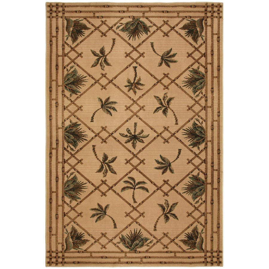 Mohawk Home Select Kaleidoscope Plantation Key Brown Rectangular Indoor Woven Area Rug (Common: 8 x 11; Actual: 96-in W x 132-in L x 0.5-ft Dia)