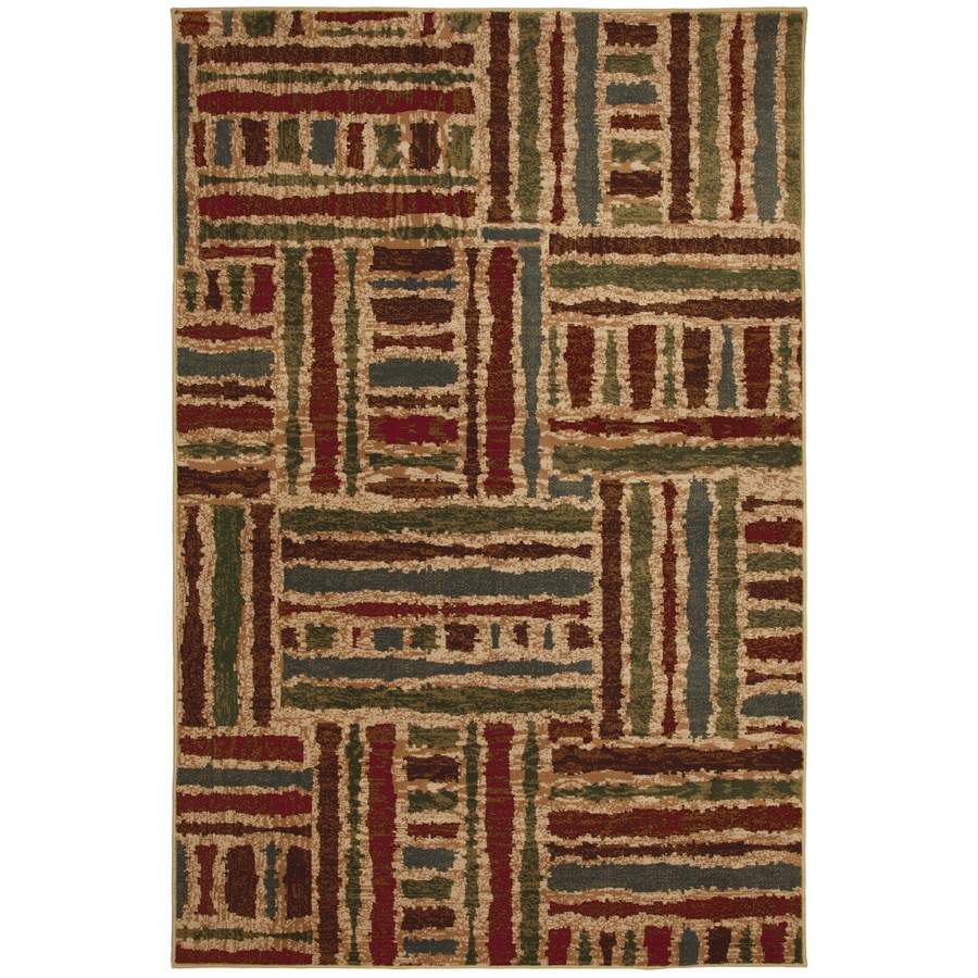 Mohawk Home Select Guilford Tarmac 5-ft 3-in x 7-ft 10-in Rectangular Green Transitional Area Rug