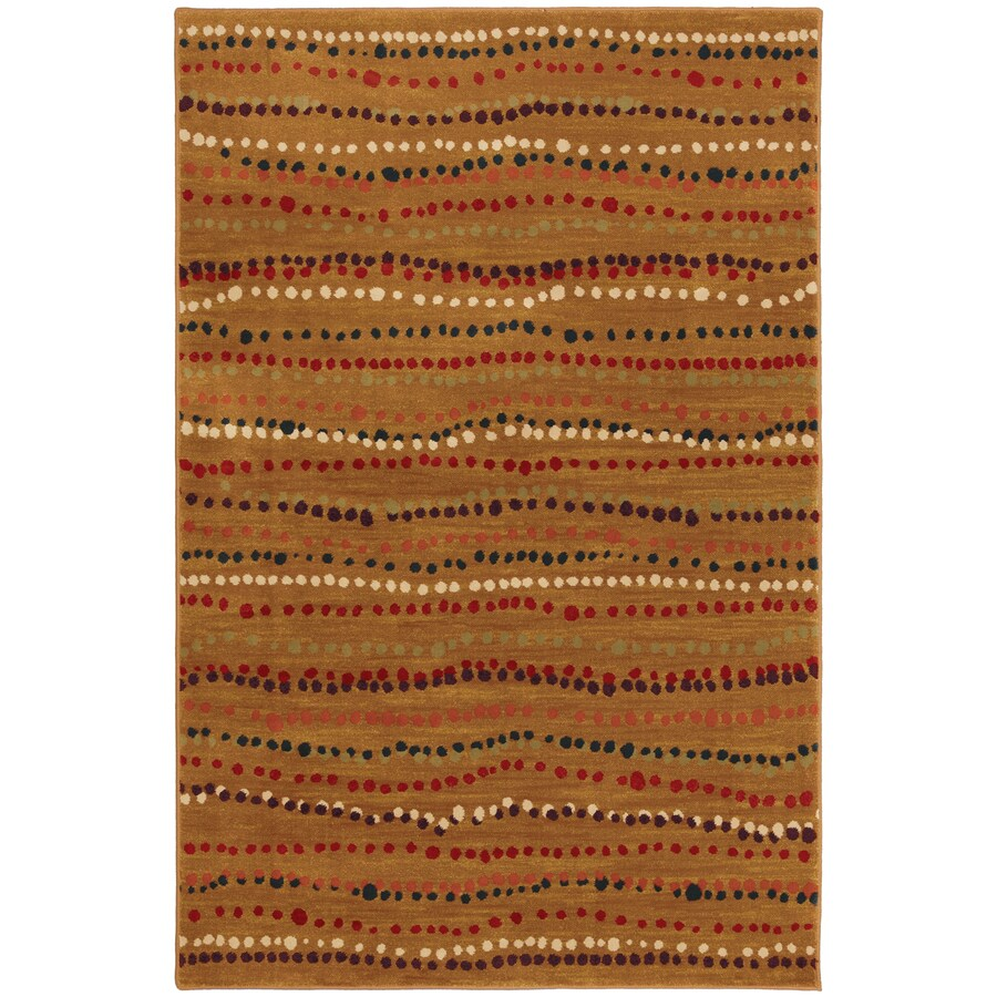 Mohawk Home Select Pinnacle Rock Bottom Rectangular Orange Transitional Woven Area Rug (Common: 5-ft x 8-ft; Actual: 5.25-ft x 7.83-ft)