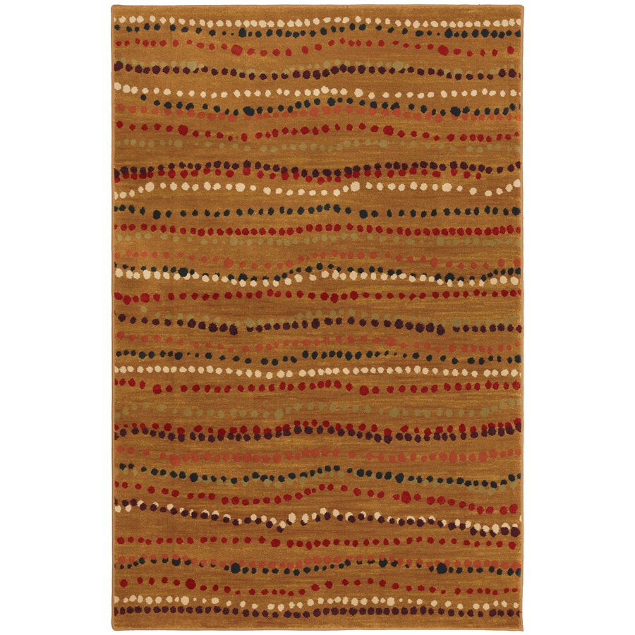 Mohawk Home Select Pinnacle Rock Bottom Rectangular Orange Transitional Woven Area Rug (Common: 8-ft x 11-ft; Actual: 8-ft x 11-ft)