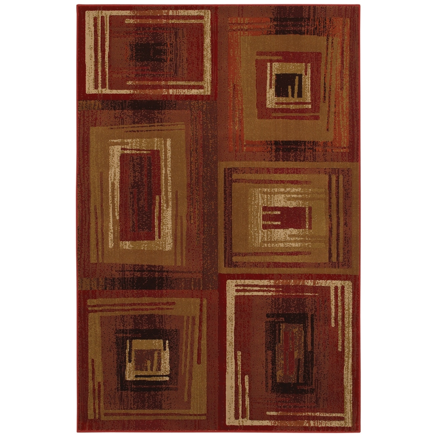 Mohawk Home Select Pinnacle Vibrations Red Red Rectangular Indoor Woven Area Rug (Common: 8 x 11; Actual: 96-in W x 132-in L x 0.5-ft Dia)