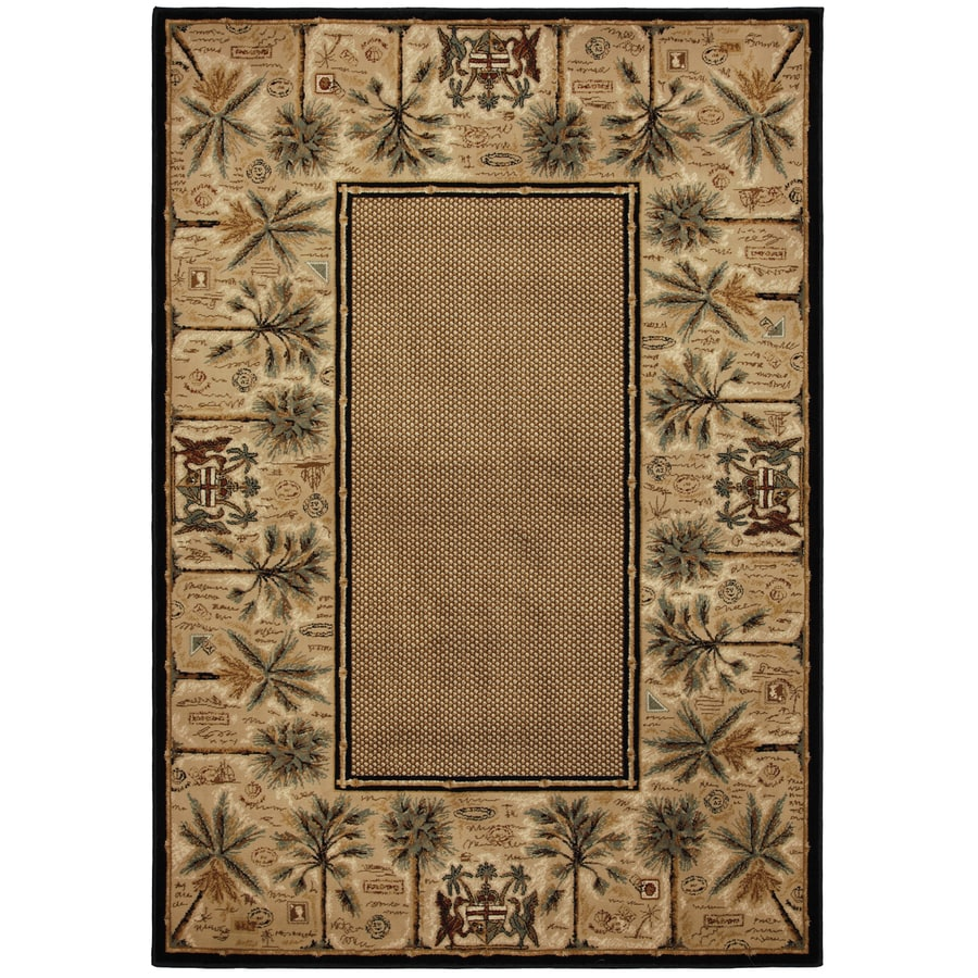 Mohawk Home Select Versailles Courtyard Palms Brown Rectangular Indoor Woven Area Rug (Common: 8 x 11; Actual: 96-in W x 132-in L x 0.5-ft Dia)
