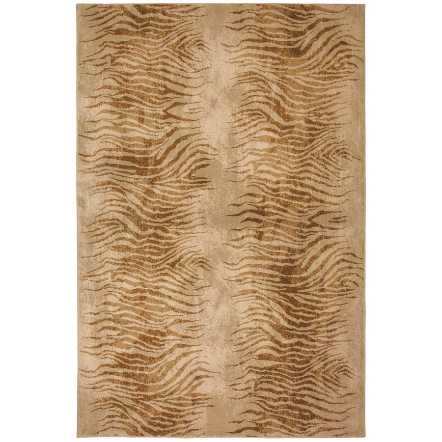 Mohawk Home Select Versailles Shock Wave Rectangular Brown Transitional Woven Area Rug (Common: 8-ft x 11-ft; Actual: 8-ft x 11-ft)