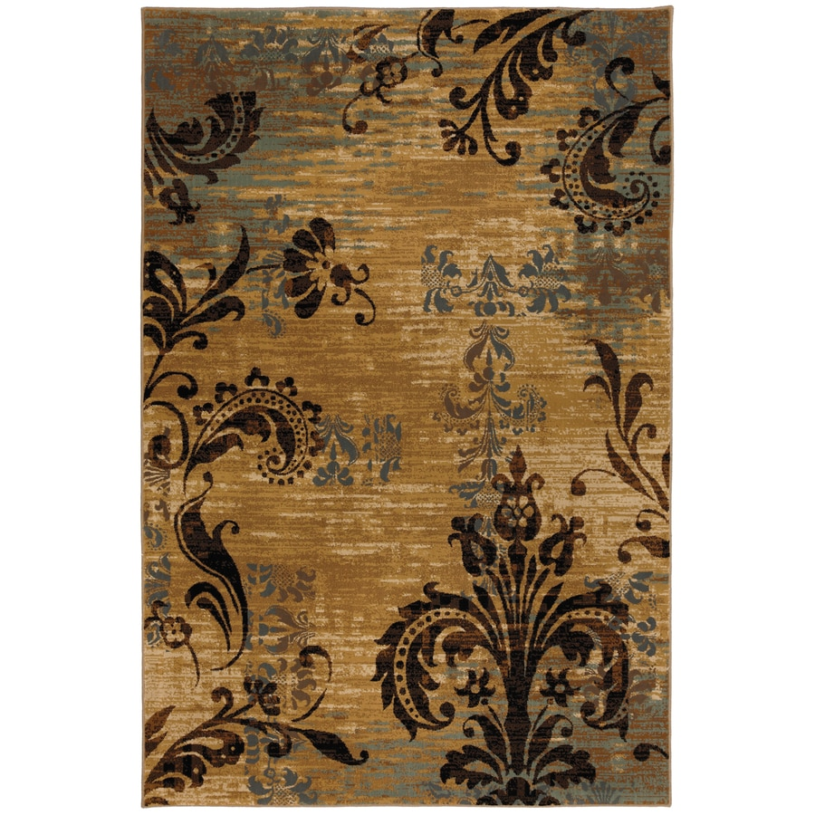Mohawk Home Select Versailles Imperial Palace Brown Rectangular Indoor Woven Area Rug (Common: 8 x 11; Actual: 96-in W x 132-in L x 0.5-ft Dia)