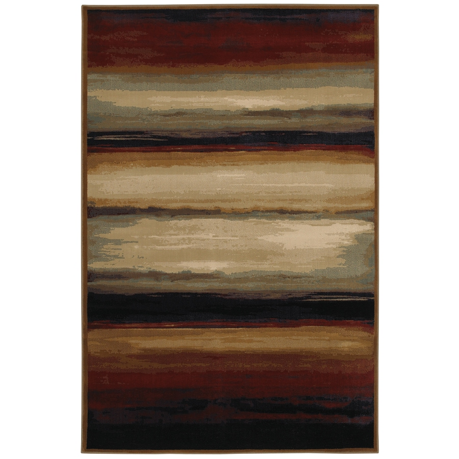 Mohawk Home Select Versailles Skyways Black Rectangular Red Transitional Woven Area Rug (Common: 8-ft x 11-ft; Actual: 8-ft x 11-ft)