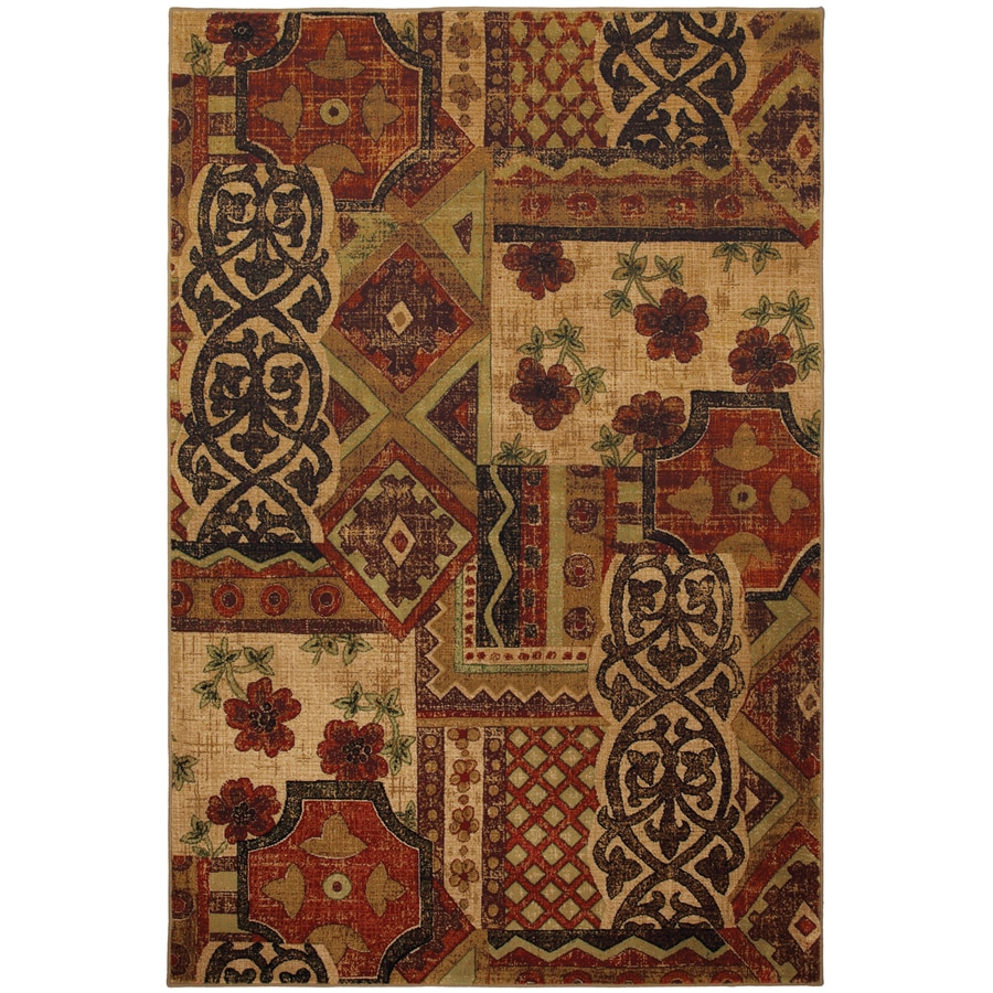 Mohawk Home Decorator's Choice 8-ft x 11-ft Rectangular Red Transitional Area Rug
