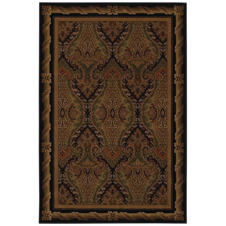 Mohawk Home Raymond Waites Royal Kingdom Rectangular Black Transitional Woven Area Rug (Common: 8-ft x 11-ft; Actual: 8-ft x 11-ft)