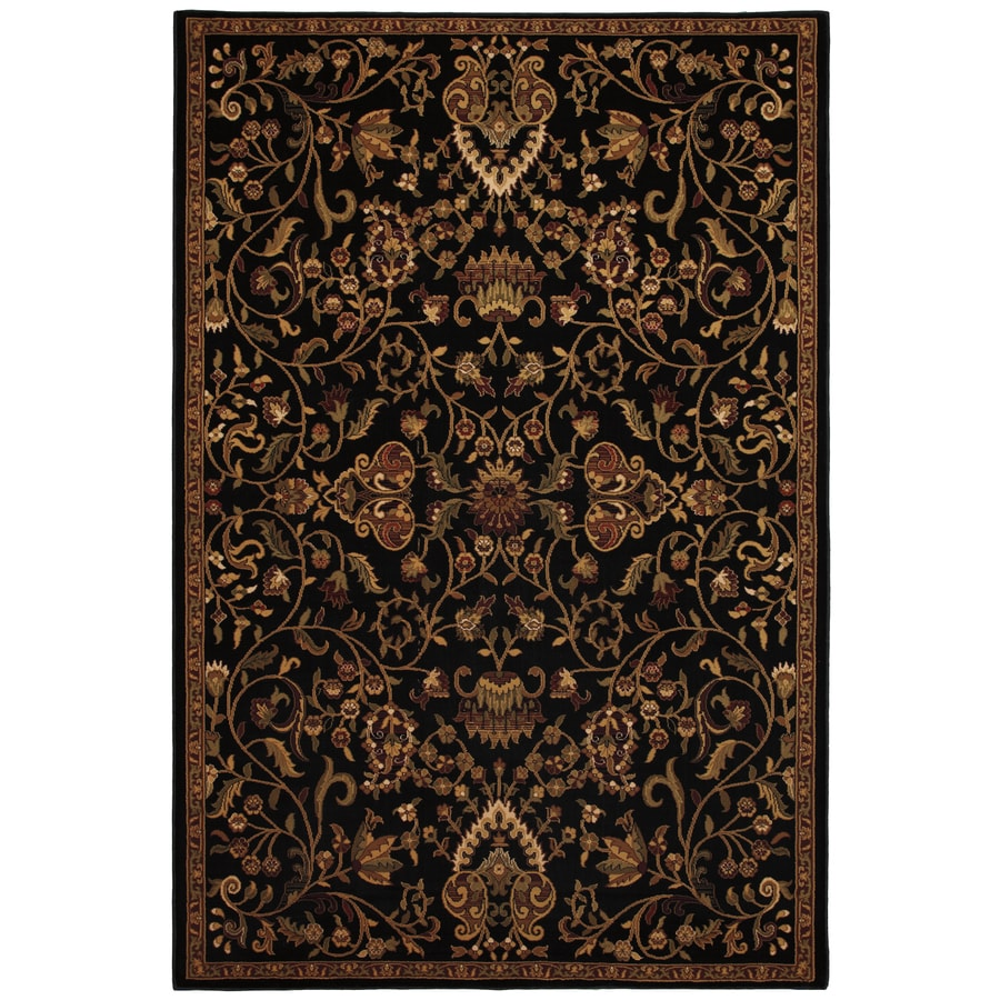 Mohawk Home Decorator's Choice Empress Garden Rectangular Black Transitional Woven Area Rug (Common: 5-ft x 8-ft; Actual: 63-in x 94-in)