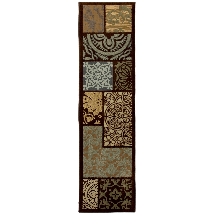Mohawk Home Select Cambridge Multicolor Rectangular Indoor Woven Runner (Common: 2 x 8; Actual: 25-in W x 94-in L x 0.5-ft Dia)